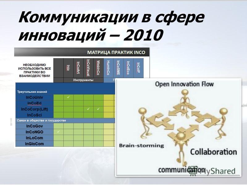 Коммуникации в сфере инноваций – 2010