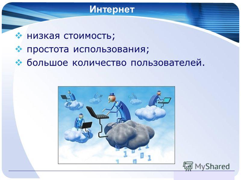 www.themegallery.com Интернет низкая стоимость; простота использования; большое количество пользователей.