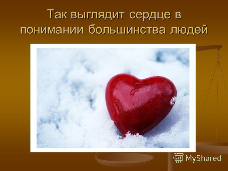 Так выглядит сердце в понимании большинства людей