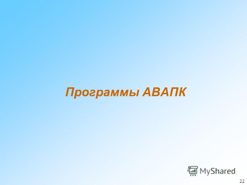 22 Программы АВАПК