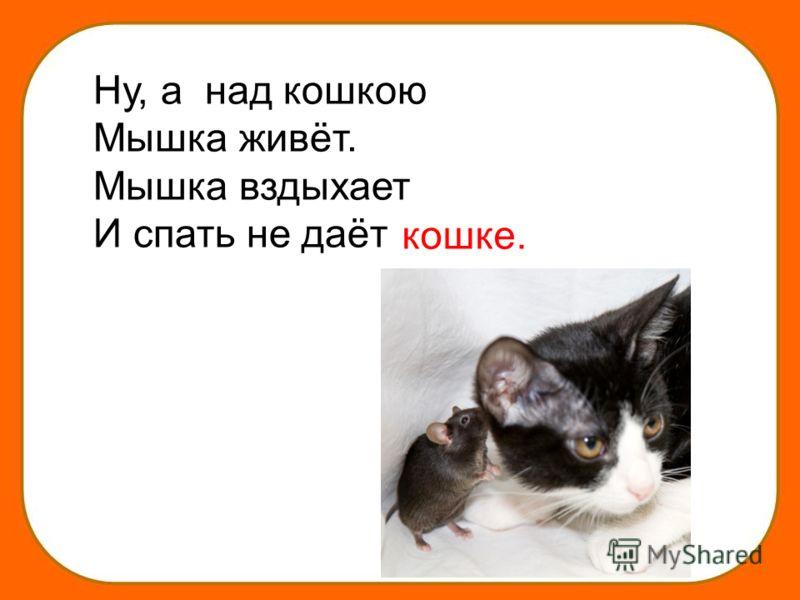 Ну, а над кошкою Мышка живёт. Мышка вздыхает И спать не даёт кошке.