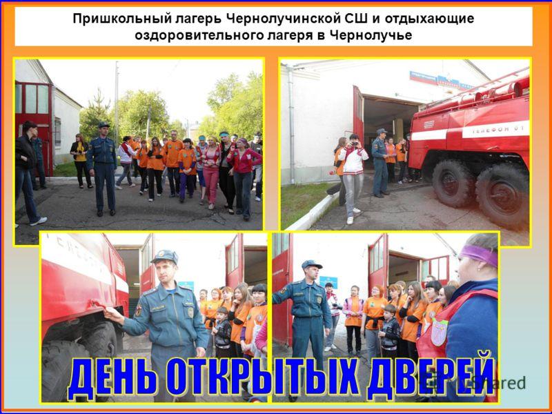 Пришкольный лагерь Чернолучинской СШ и отдыхающие оздоровительного лагеря в Чернолучье
