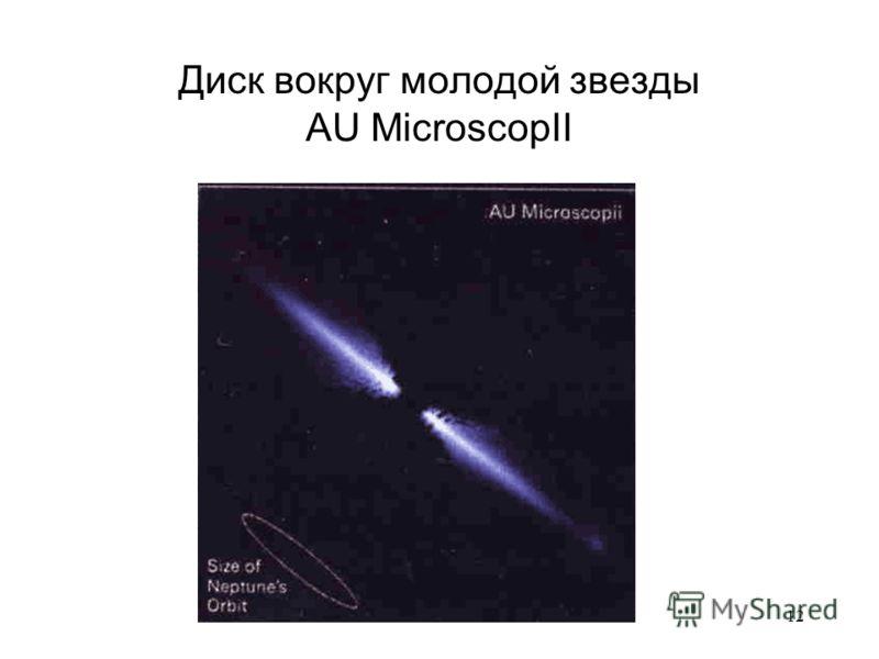12 Диск вокруг молодой звезды AU MicroscopII