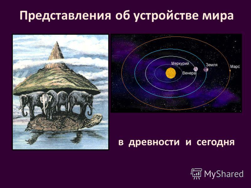 Представления об устройстве мира в древностии сегодня