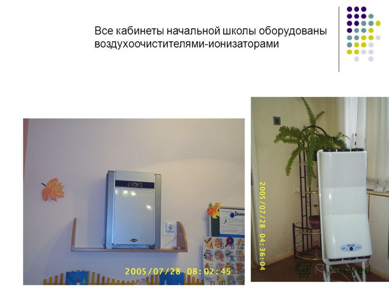 Все кабинеты начальной школы оборудованы воздухоочистителями-ионизаторами