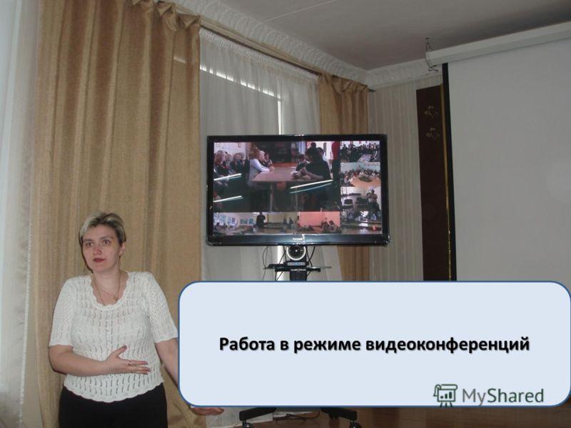 Работа в режиме видеоконференций