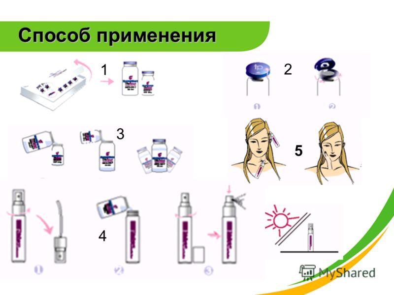 2 1 3 4 5 Способ применения