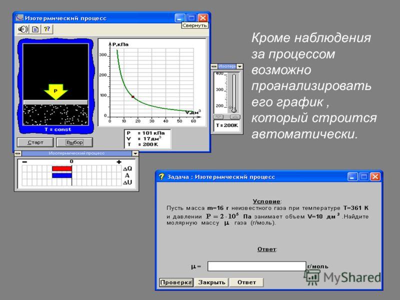 Кроме наблюдения за процессом возможно проанализировать его график, который строится автоматически.