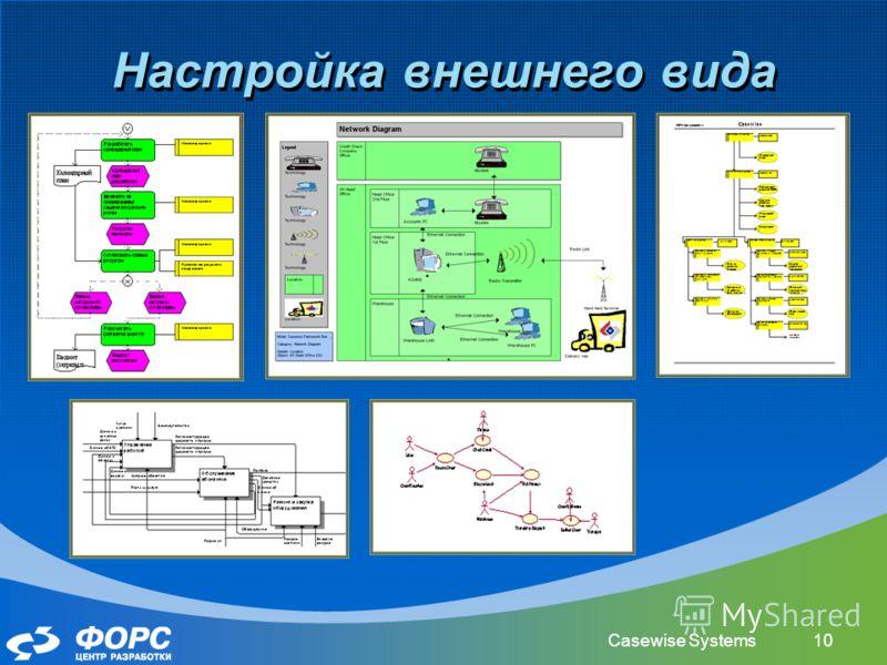 Casewise Systems10 Настройка внешнего вида