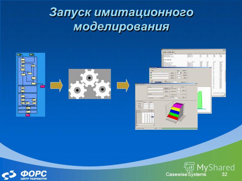 Casewise Systems32 Запуск имитационного моделирования