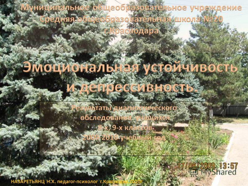 НАЗАРЕТЬЯНЦ Н.Х. педагог-психолог г.Краснодар,2010г