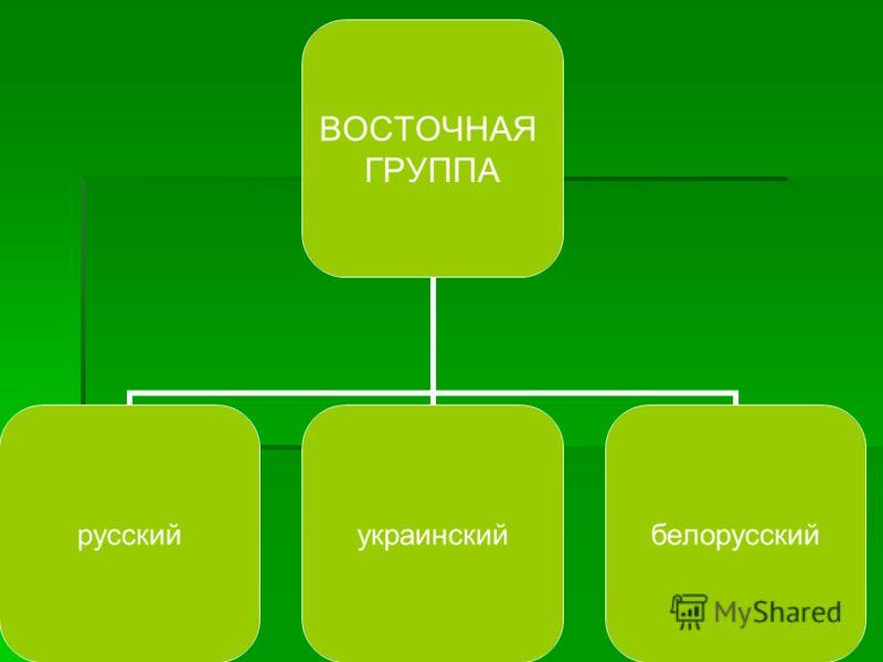 ВОСТОЧНАЯ ГРУППА русскийукраинскийбелорусский