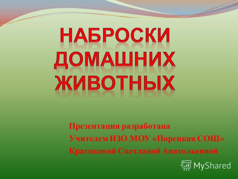 Презентация разработана Учителем ИЗО МОУ «Порецкая СОШ» Красиковой Светланой Анатольевной