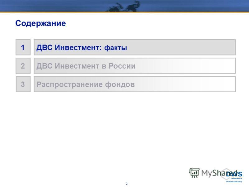 1 1ДВС Инвестмент: факты 2ДВС Инвестмент в России 3Распространение фондов Содержание