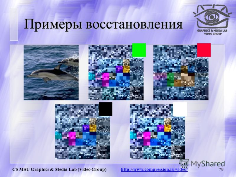 CS MSU Graphics & Media Lab (Video Group) http://www.compression.ru/video/78 Декомпрессия: Шаг 5