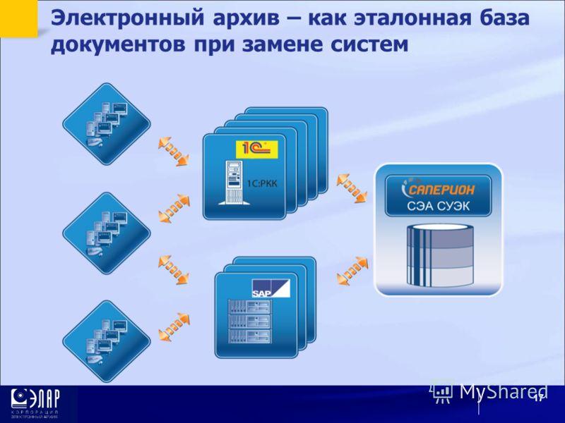 Электронный архив – как эталонная база документов при замене систем 17