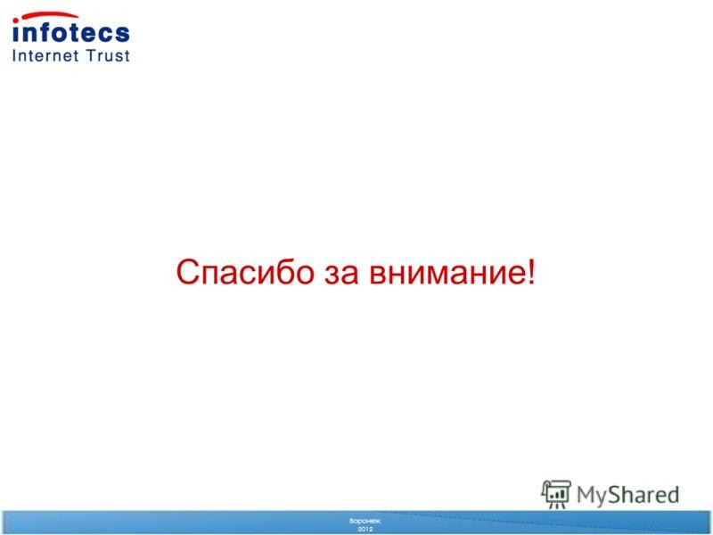 Спасибо за внимание! Воронеж 2012