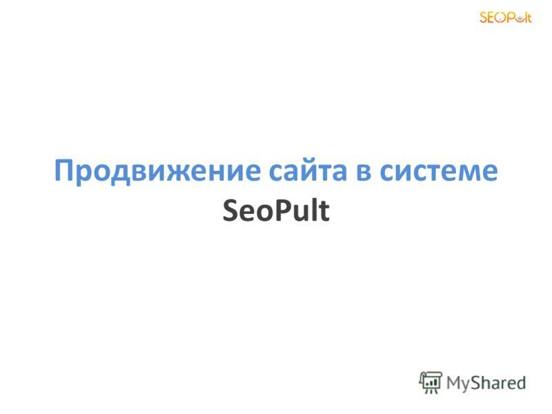 Продвижение сайта в системе SeoPult