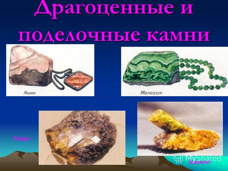 Драгоценные и поделочные камни Топаз Берилл