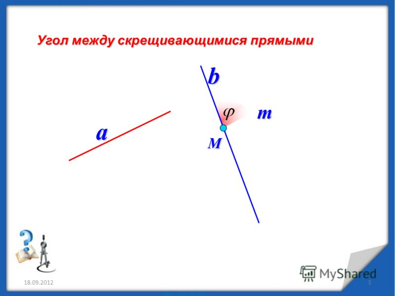 18.09.20125 Угол между скрещивающимися прямыми a b М m