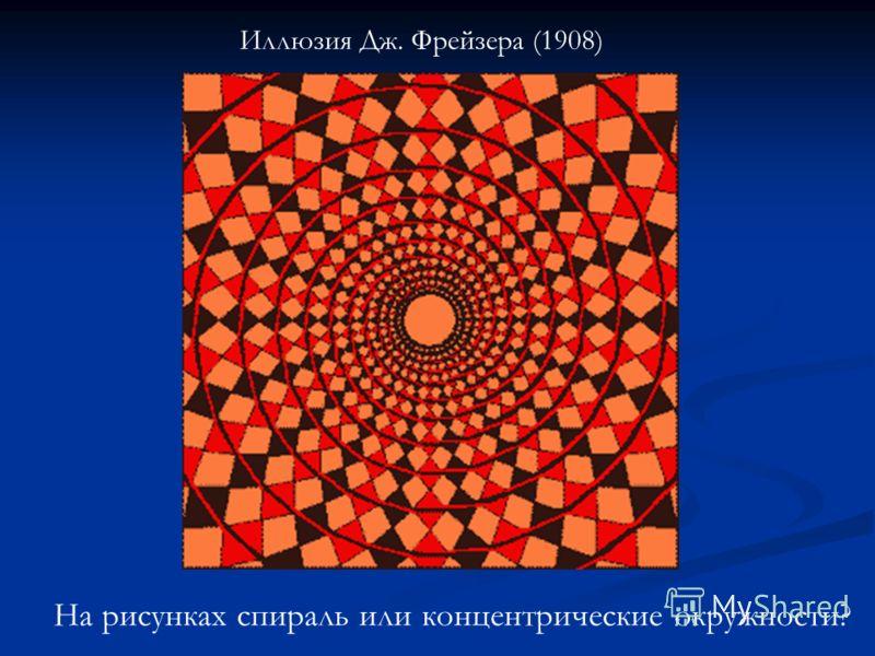 Иллюзия Дж. Фрейзера (1908) На рисунках спираль или концентрические окружности?