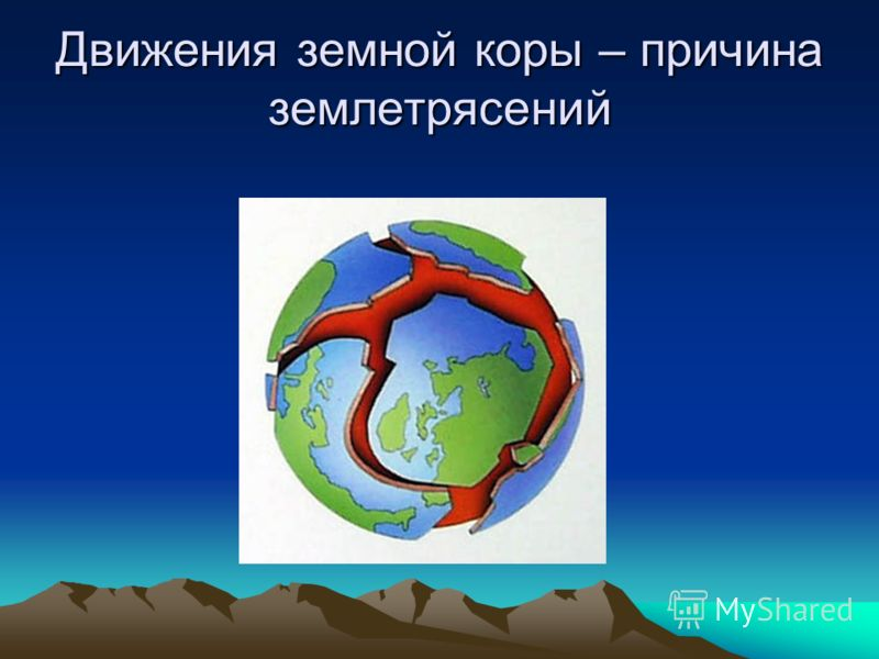 Движения земной коры – причина землетрясений