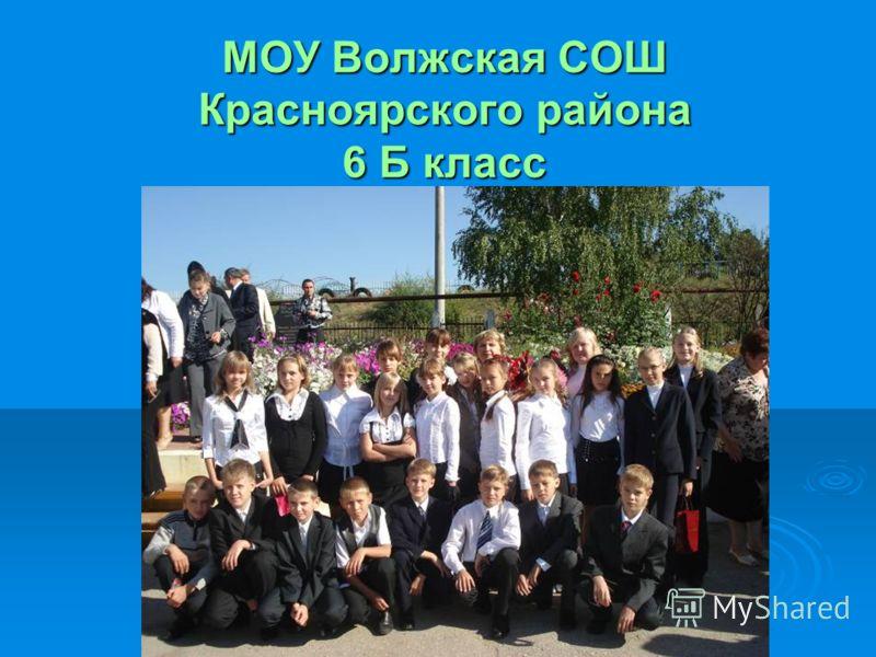 МОУ Волжская СОШ Красноярского района 6 Б класс
