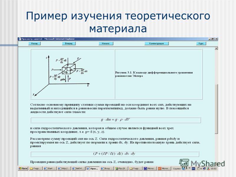 Пример изучения теоретического материала