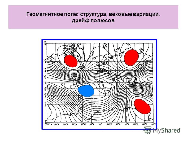 Геомагнитное поле: структура, вековые вариации, дрейф полюсов