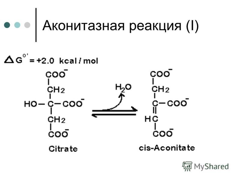 Аконитазная реакция (І)