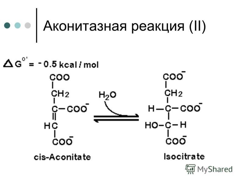 Аконитазная реакция (ІІ)