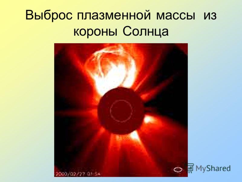 Выброс плазменной массы из короны Солнца