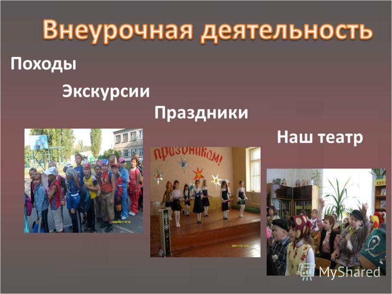 Праздники Наш театр Экскурсии Походы