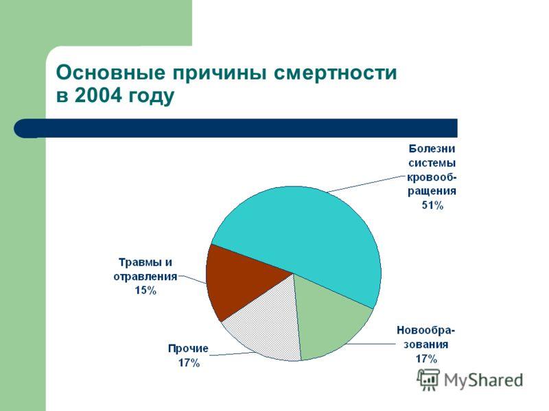 Основные причины смертности в 2004 году