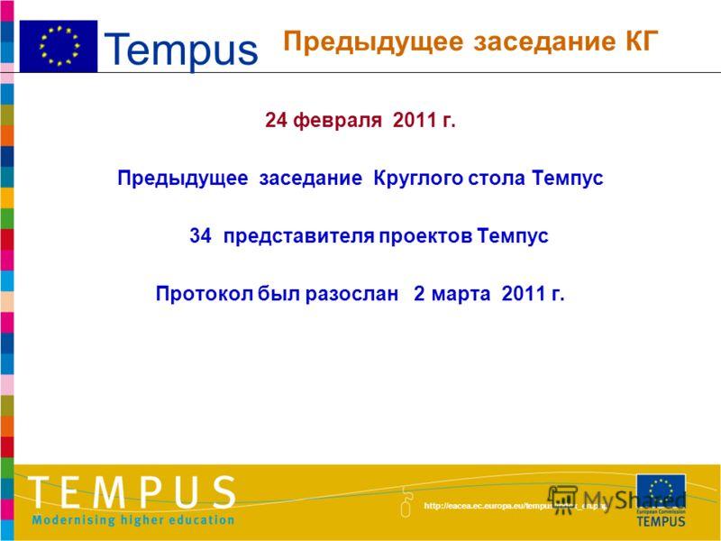 http://eacea.ec.europa.eu/tempus/index_en.php 1.Новости в сфере высшего образования и в деятельности программы Темпус 2.Эффективное управление проектами Темпус 3.Обмен опытом и информацией между проектами 4.Представление 4 новых проектов Темпус (15.1