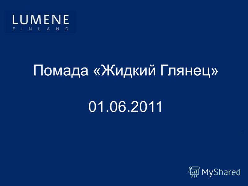 Помада «Жидкий Глянец» 01.06.2011