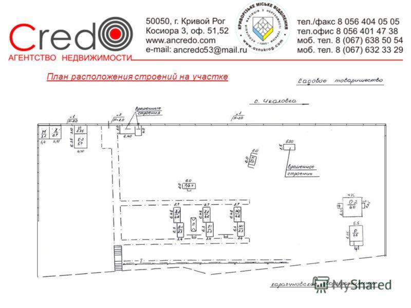 План расположения строений на участке