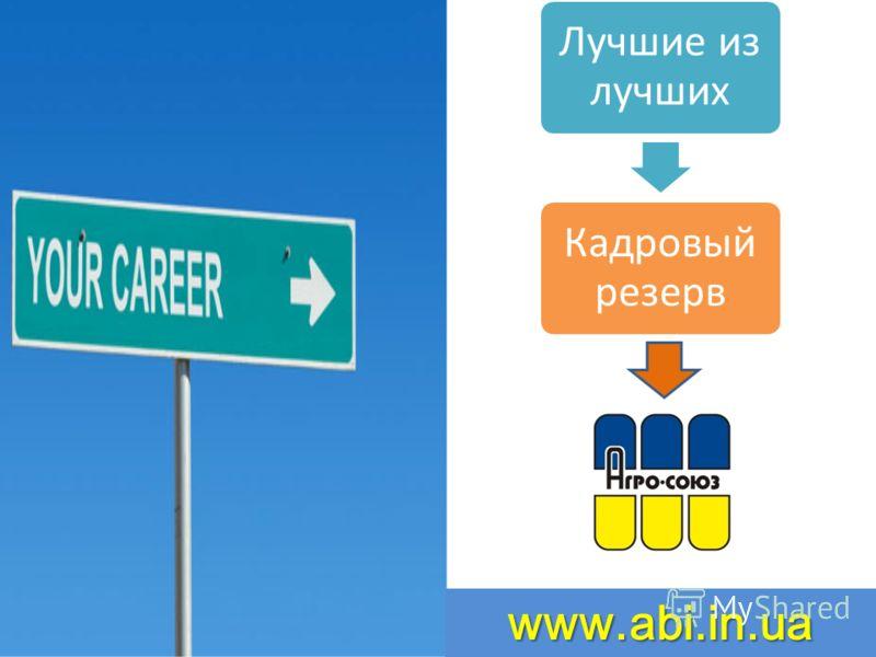 www.abi.in.ua Лучшие из лучших Кадровый резерв