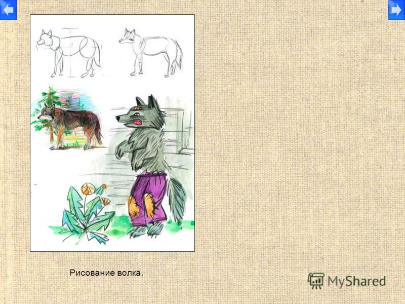 Рисование волка.