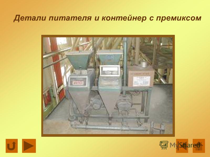 Детали питателя и контейнер с премиксом