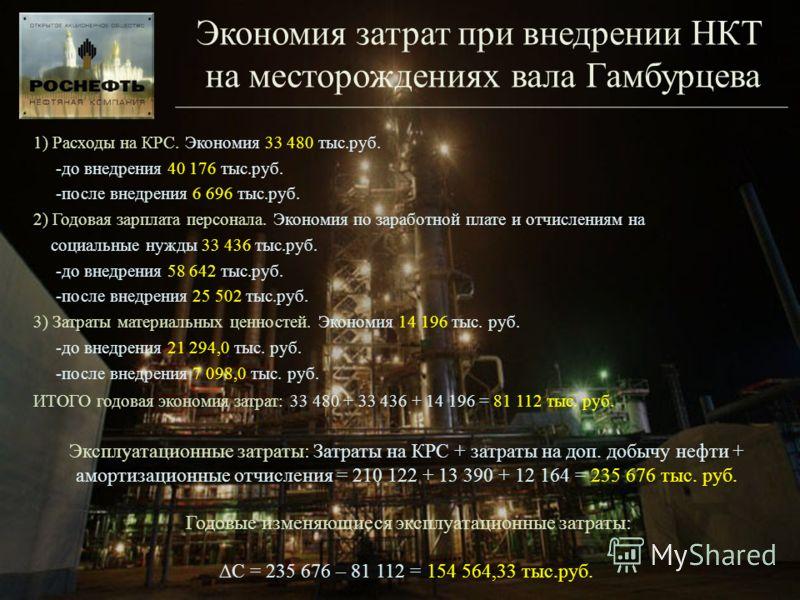 1) Расходы на КРС. Экономия 33 480 тыс.руб. -до внедрения 40 176 тыс.руб. -после внедрения 6 696 тыс.руб. 2) Годовая зарплата персонала. Экономия по заработной плате и отчислениям на социальные нужды 33 436 тыс.руб. -до внедрения 58 642 тыс.руб. -пос