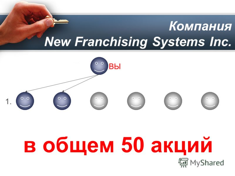 Компания New Franchising Systems Inc. 1.1. ВЫ в общем 50 акций