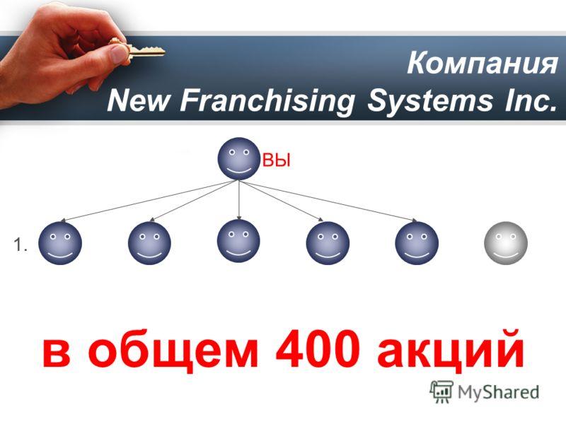 Компания New Franchising Systems Inc. 1.1. ВЫ в общем 400 акций