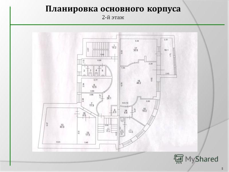 Планировка основного корпуса 2-й этаж 8