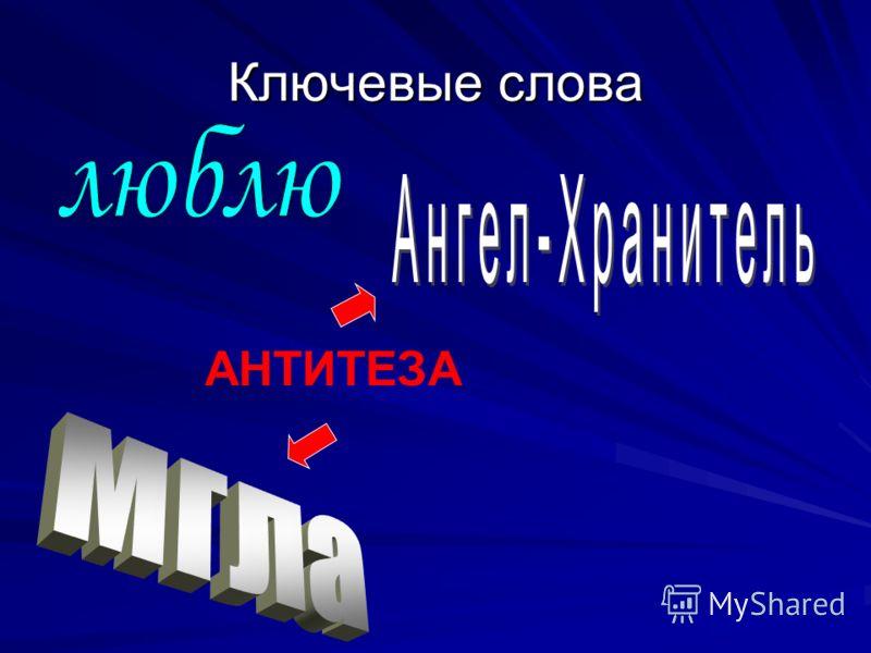 АНТИТЕЗА Ключевые слова