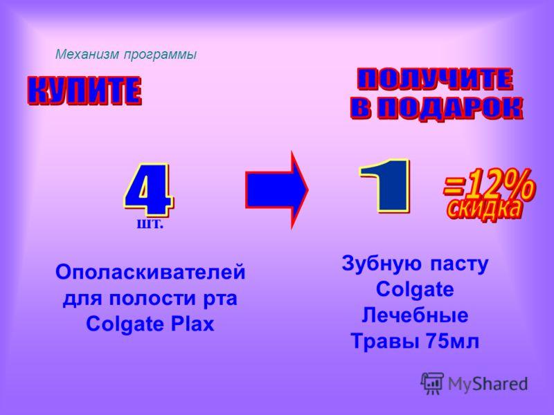 Механизм программы шт. Зубную пасту Colgate Лечебные Травы 75мл Ополаскивателей для полости рта Colgate Plax
