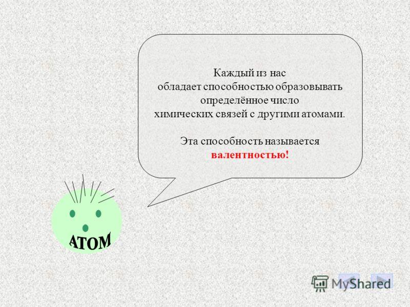 ЗАПОМНИТЕ! Мы в молекулах связаны между собой химическими связями. HHO Химические связи HH O