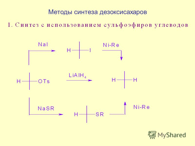 Методы синтеза дезоксисахаров