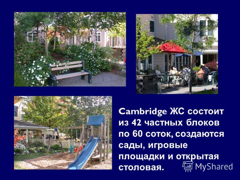 Cambridge ЖС состоит из 42 частных блоков по 60 соток, создаются сады, игровые площадки и открытая столовая.
