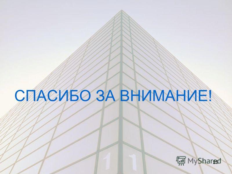 СПАСИБО ЗА ВНИМАНИЕ! 25